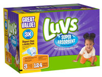 Luvs with Super Absorbent Leakguards