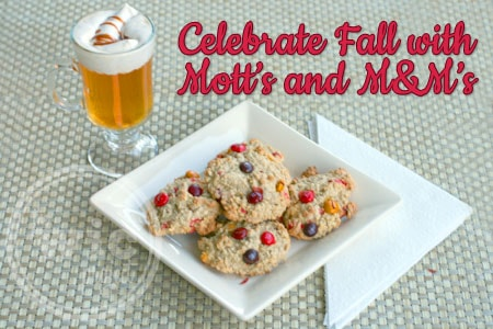 Celebrate Fall with Mott's and M&Ms
