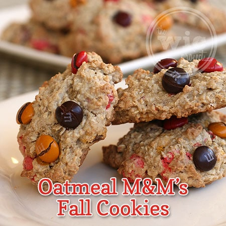 Oatmeal M&M's Fall Cookies