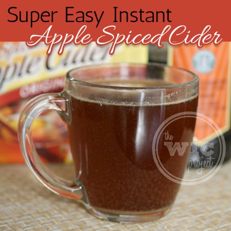 Super Easy Instant Apple Spiced Cider