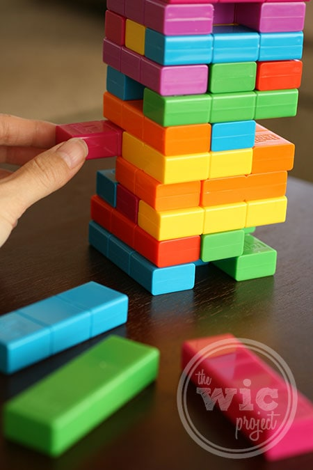 Taking Jenga Tetris Piece