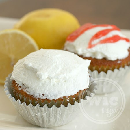 Lemon Strawberry Filled Cupcakes