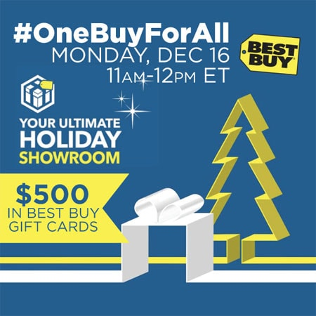 #OneBuyForAll Twitter Party - 12/16