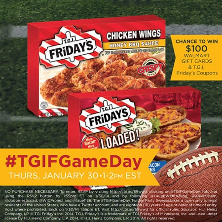 #TGIFGameDay Twitter Party