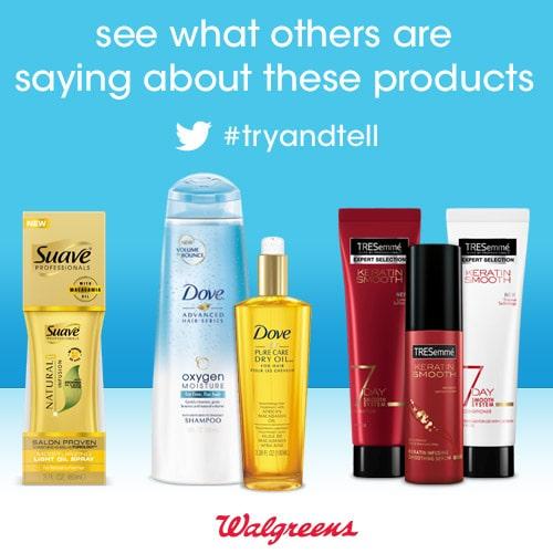 Walgreens Hair Innovation #TryandTell