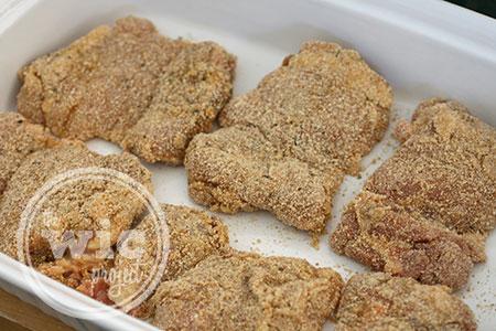 No-Fry Chicken Parmesan Sandwich - Breaded Chicken