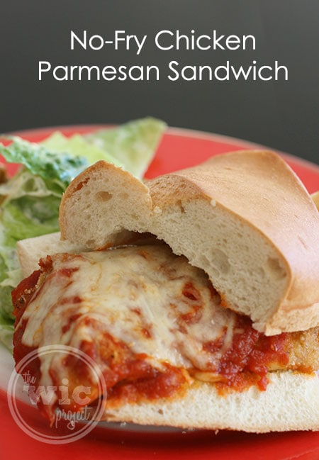 No-Fry Chicken Parmesan Sandwich