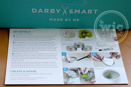 Darby Smart Mini Terrarium Instruction Card