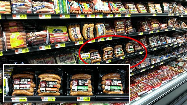 Hillshire Farm American Craft Sausage in Walmart