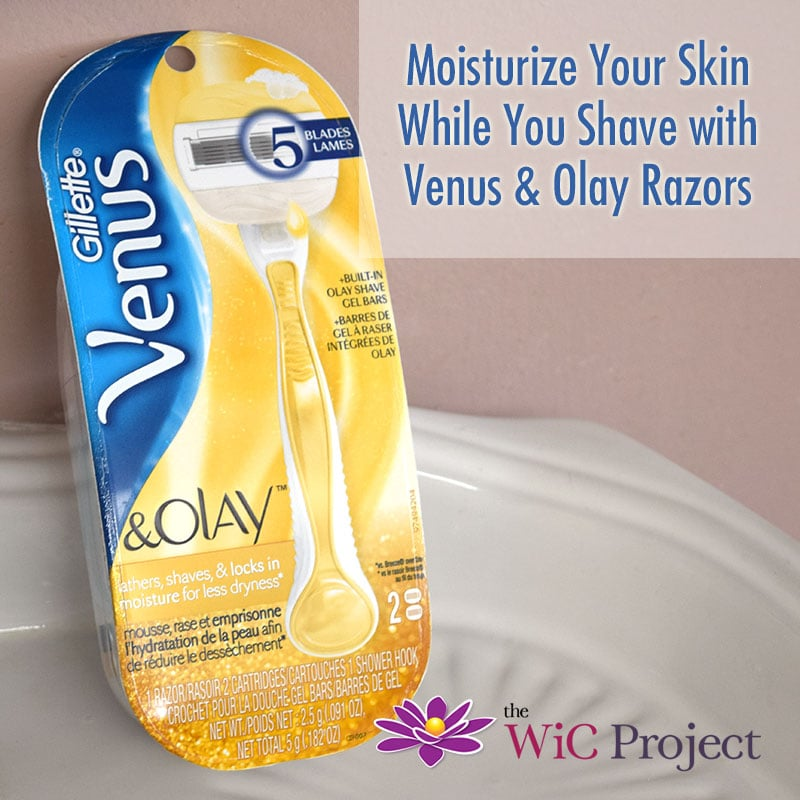 Moistruize While You Shave with Venus & Olay Razors