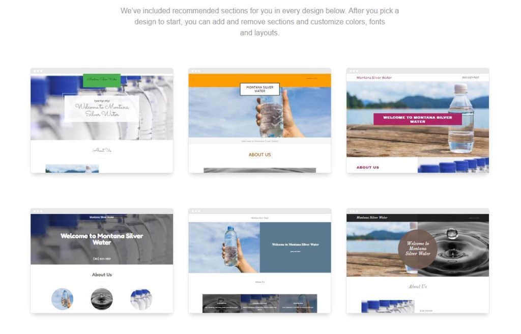 GoDaddy GoCentral Website Builder - Create a Website in Minutes - Designs