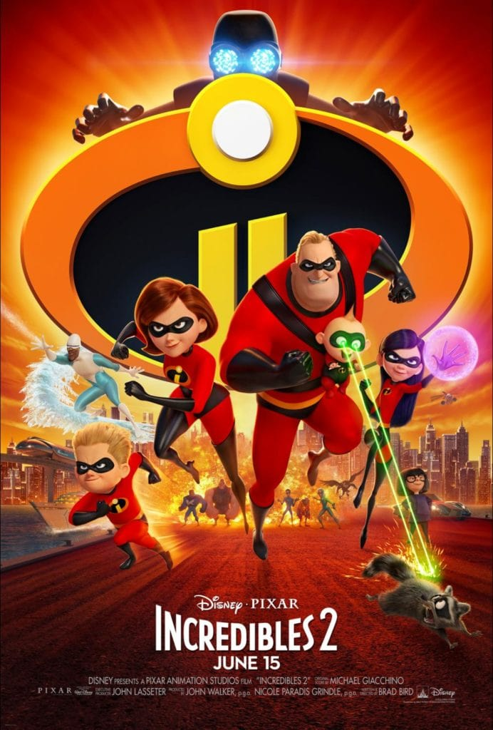 Disney/PIXAR's Incredibles 2 Movie Poster