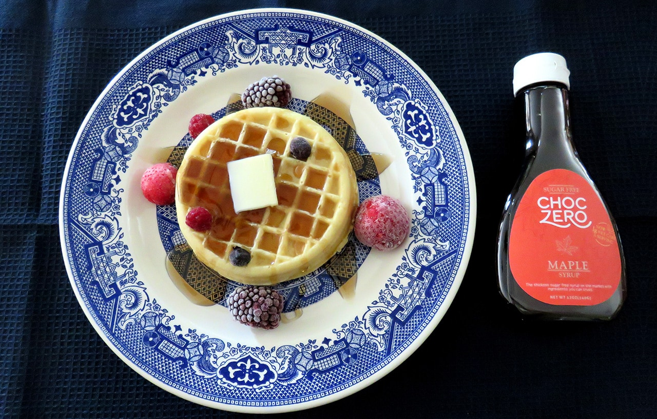 Choczero Maple Syrup and Waffles