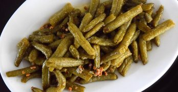 Butter & Garlic Canned Green Beans on a Plate