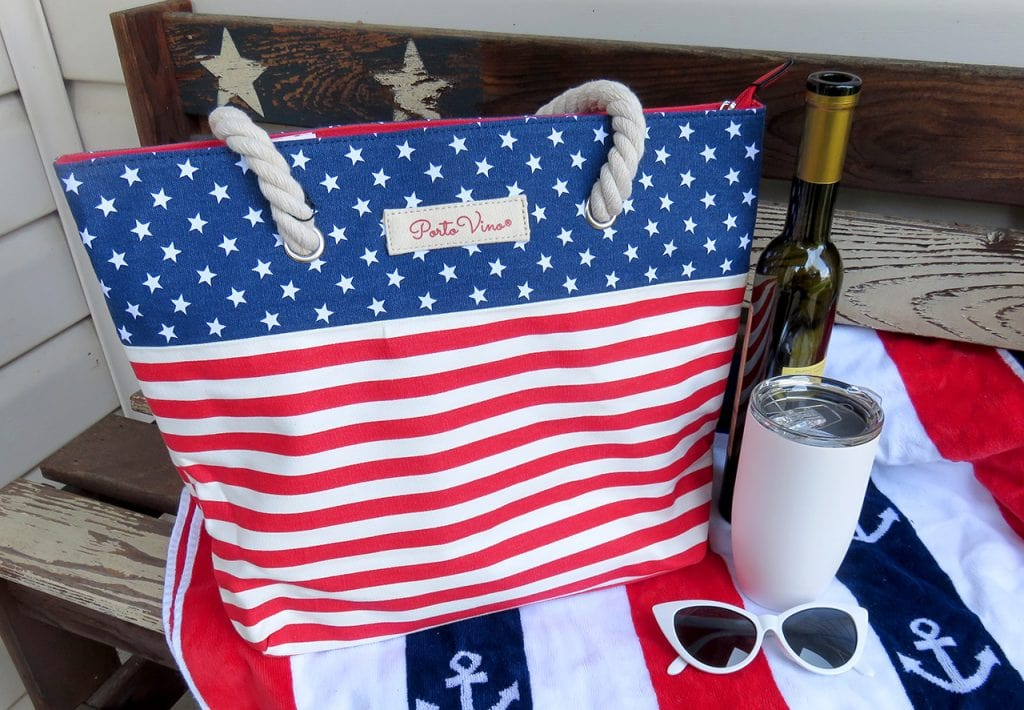 Patriotic PortoVino Wine Bag is Ideal for Carrying Wine and Beverages on the Go