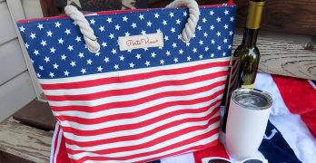 Patriotic Porto Vino Wine Bag is Ideal for Carrying Wine and Beverages on the Go