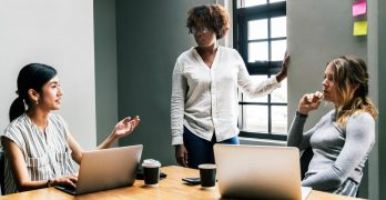 How To Find Success - Three Women in a Meeting