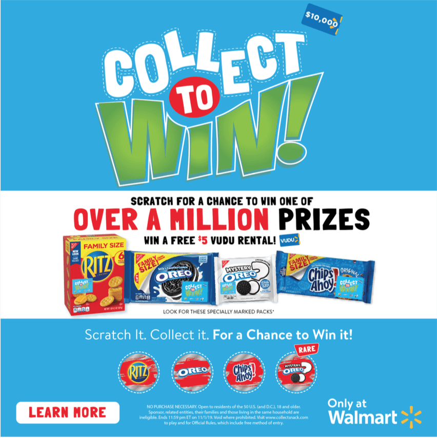 Collect To Win with RITZ, OREO & Chips Ahoy!