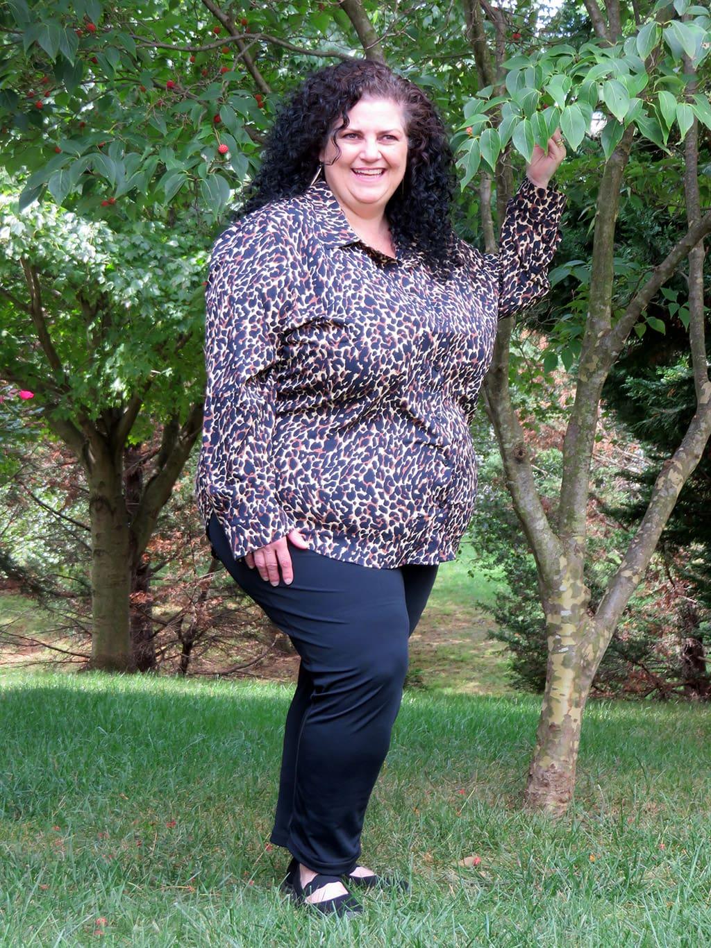 Coolibar Leopard Print Women's Rhodes Shirt