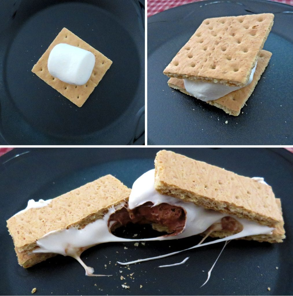 Making Smores with Stuffed Puffs Marshmallows