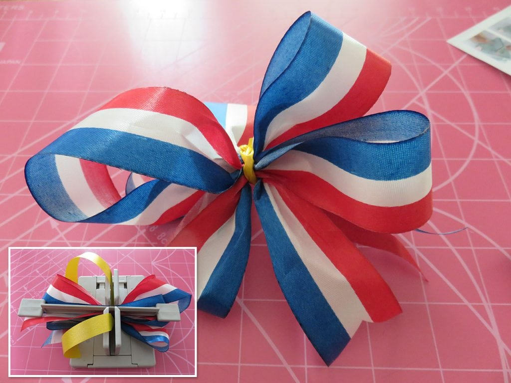 Patriotic Bow Made with Mini Bowdabra