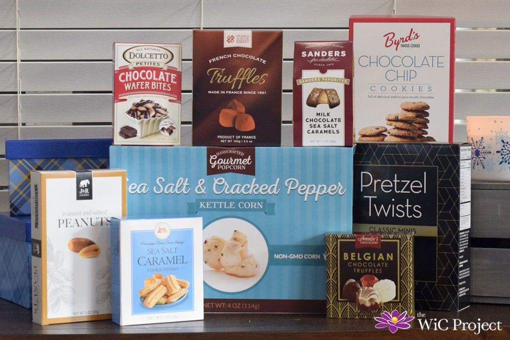 Christmas Gourmet Gift Basket Snacks and Chocolate