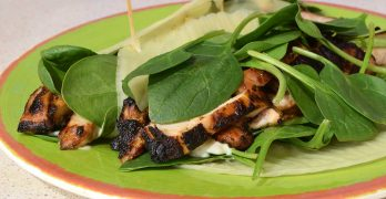 Grilled Chicken Caesar Salad with Parmesan Folios Cheese Wrap