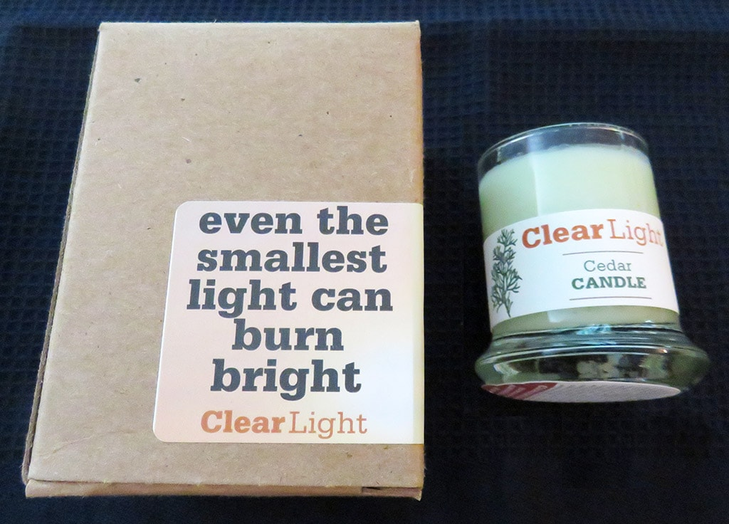 Clear Light Cedar Candle