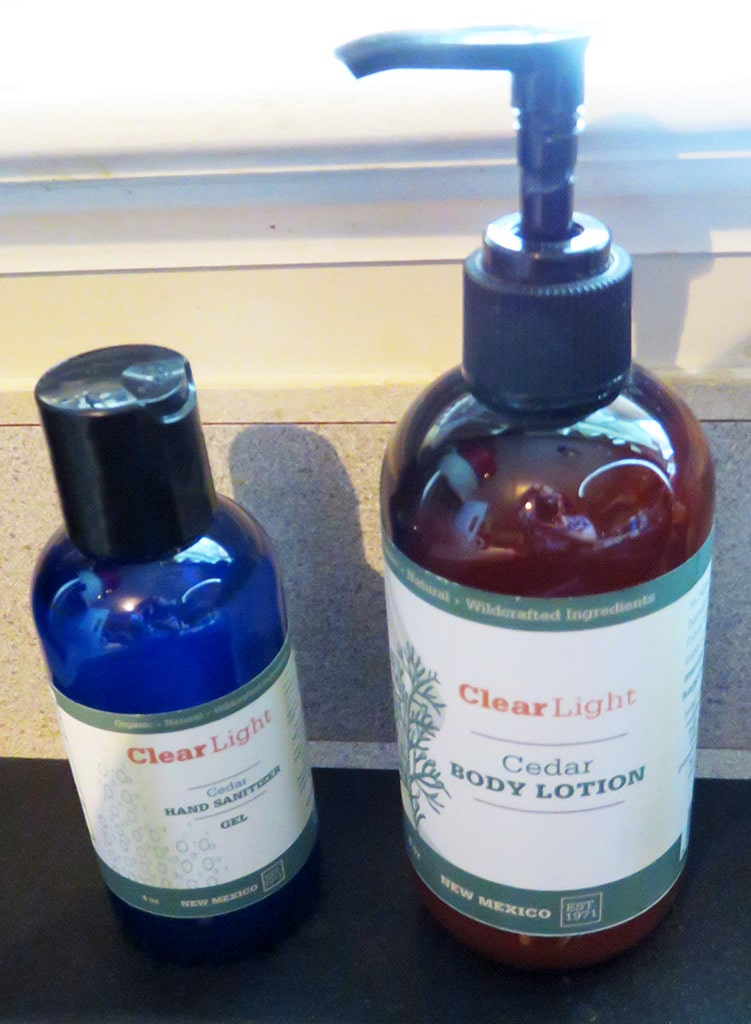 Clear Light Cedar Hand Sanitizer and Body Lotion